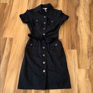Diane von Furstenberg Black Button Up Dress